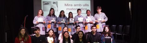 Guanyadors i finalistes del III Concurs de Fotografia Matemàtica.