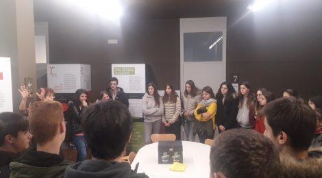"""VISITA DELS ALUMNES DE 4t d´ESO a l´exposició:""""Pompeu Fabra. Una llengua completa""""."""